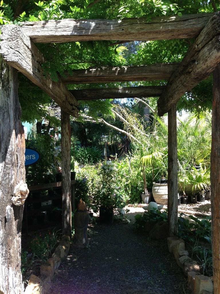 pergola jardin bois