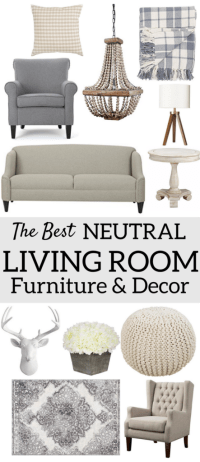 The Best Neutral Living Room Furniture & Decor  A Brick Home