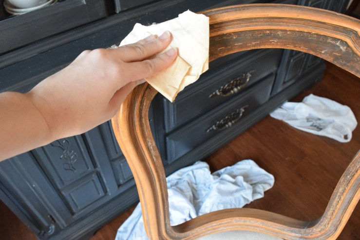 A Brick Home: white wax, how to use white wax, furniture makeover
