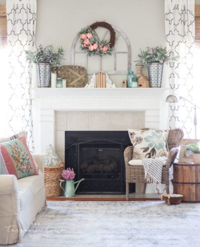 18 Spring Mantel Decorating Ideas Youll Want To Copy A