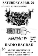1997-04-26 The Kitchen Club (Miami, FL) Malevolent Creation, Mendacity, Radio Baghdad