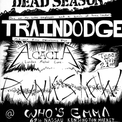 July 21st 1998 at Who's Emma (Toronto, ON) Dead Season with Traindodge, Grendel and Acacia. Photo courtesy of Al Biddle