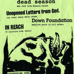 January 20th 1999 at Something Cool (Plattsburgh, NY) Dead Season with Unopened Letters from God, Down Foundation, In Reach. Photo courtesy of Al Biddle