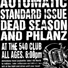 March 12th 1999 at The 540 Club (Jeffersonville, IN) Dead Season with Automatic, Standard Issue, Philanz. Photo courtesy of Al Biddle