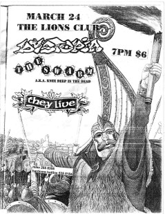March 24th 1999. The Swarm at The Lion Club (Toronto, ON). With Dystopia, They Live