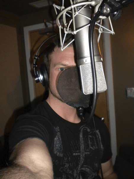 "Chris Gray recording ""Into the Flood"", circa January 9th 2010."