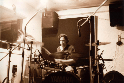Breaking Violet recording at H.Q. from April to June of 1996. Photo courtesy of Paolo Gattola.