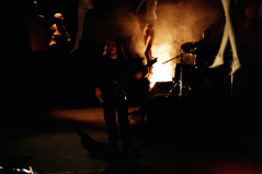 """Breaking Violet filming """"Greed"""" in May of 1997. Photo courtesy of Paolo Gattola."""