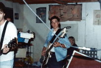 Unmarked circa September 1987. Robert Kourie on left, Joseph Tufenkdjian's head and Stephane Fania on the right.