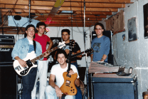 Unmarked circa September 1987. L to R: Stephane Fania, Steve Bolduc, Robert Kourie (bottom), Joseph Tufenkdjian, Italo Falcone.