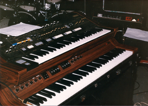 Unmarked's rehearsal space, Bob's basement, circa September 1987. Keyboards.