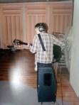 Steve recording at Studio in March 2002