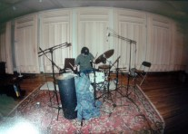 Andrew recording at Studio in March 2002