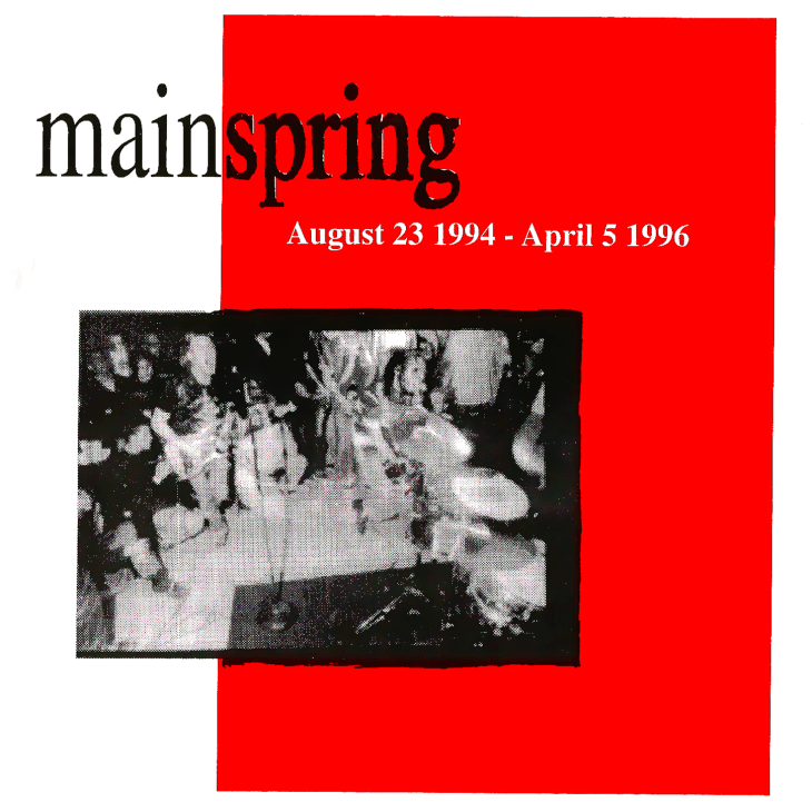 "C.A.S.S. Records 007º - Mainspring ""August 23 1994 - April 5 1996"" Discography, CD, 1998"