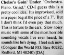 Chelsea's Gone Under review in Second Nature issue Fall 1995