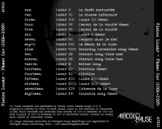 "Vision Lunar ""Phase One (2006-2009)"" reissue, Abridged Pause Recordings (APR12), August 29th 2015. Back cover."