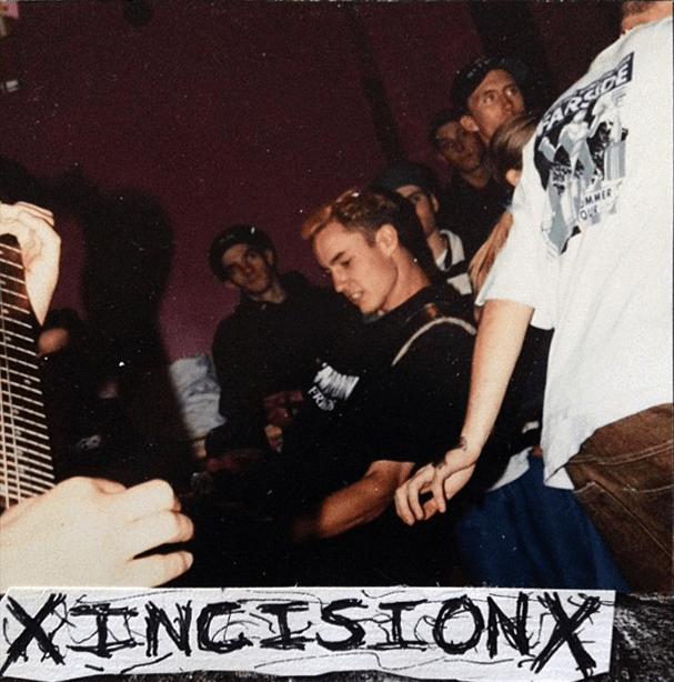 Incision performing at House for Zak, circa 1993. Taken from the 1995 fanzine SunBlister. Photo courtesy of Chris Logan.