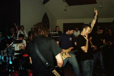 The Swarm at the Oakville Hardcore Festival/Southern Ontario Hardcore Festival. March 13th 1998. Photo courtesy of Mark Miller.
