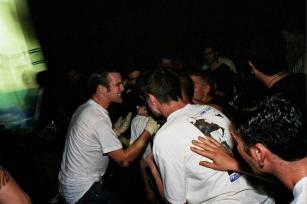The Swarm at the Eldridge Club, June 14th 1999. Photo courtesy of Mark Miller.