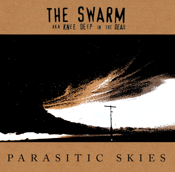 "The Swarm aka Knee Deep in the Dead's album ""Parasitic Skies"", 12"" repress by No Idea Records, February 2013"