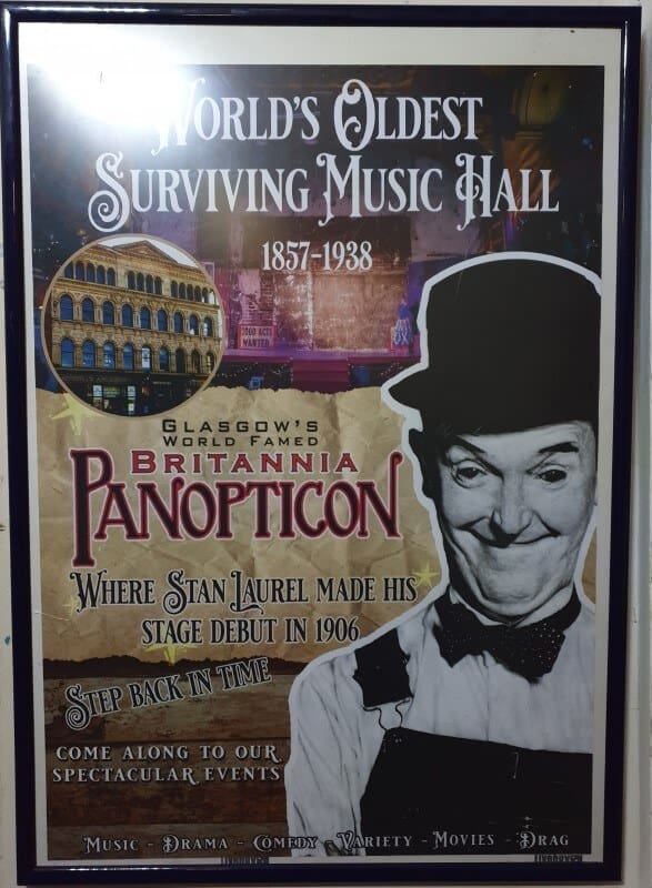 Glasgow's World Famed Britannia Panopticon poster