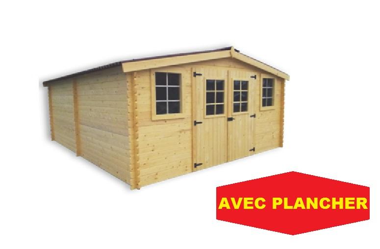 abri jardin bois bandol super 4x5m 20m2 avec plancher