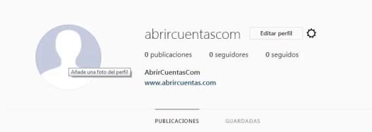 Subir o cambiar foto de perfil en Instagram