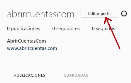Editar perfil de Instagram