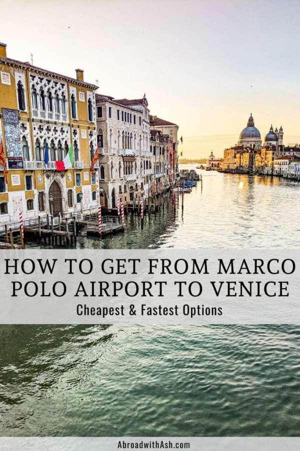 marco polo airport to venice