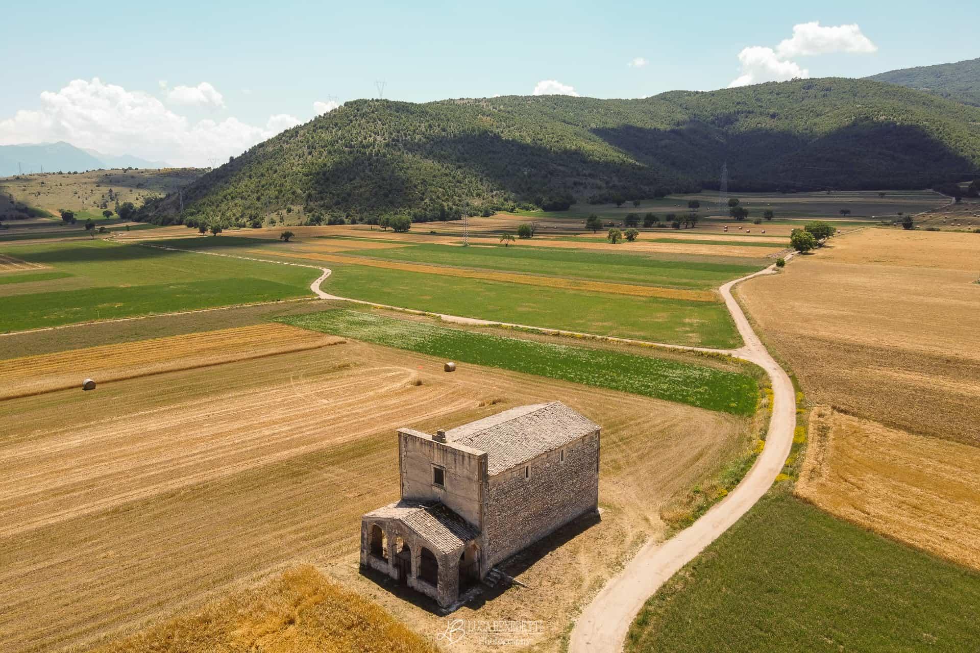 Veduta aerea Chiesa di Madonna del Campo