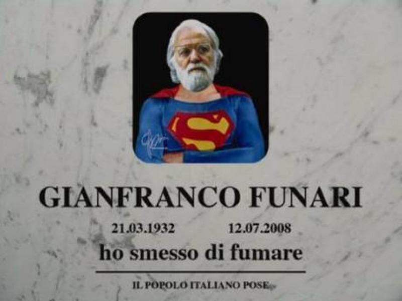 Dallartista Pep Marchegiani una lapide pop per Gianfranco Funari  Cronaca nazionale Pescara