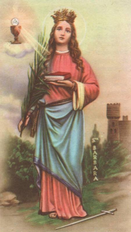 4 dicembre Santa Barbara la devozione ed il culto della