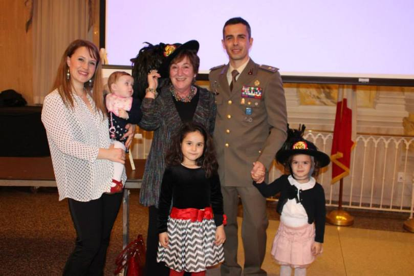 Colonel Manes, a Bersagliere and family