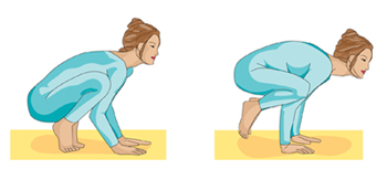 Printable Yoga positions - the crow pose