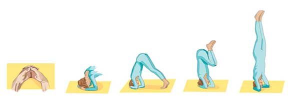 Printable Yoga positions - the head stand pose