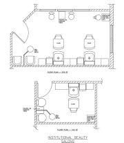 institutional salon floor plan