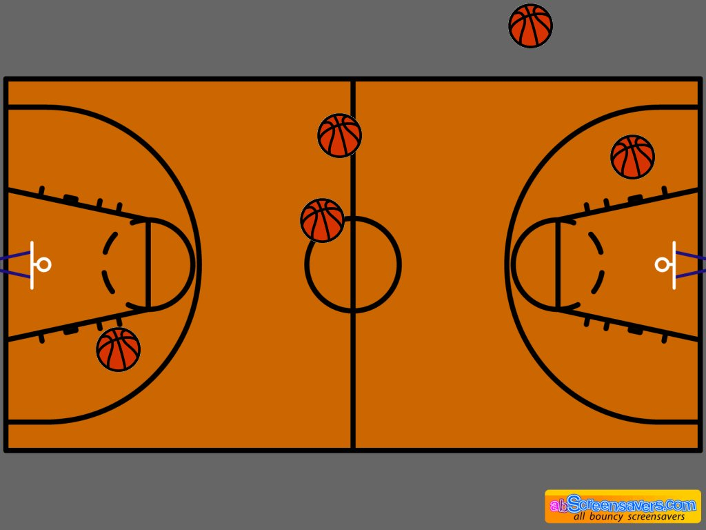 multiple basketball court diagram 2004 kia sorento parts free screensaver download by abscreensavers.com with bouncy basketballs ...