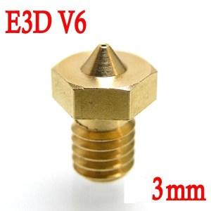 Ugello Estrusore in Ottone 0.5mm E3DV6 per Filamenti da 3.00mm 3D per Stampante 3D