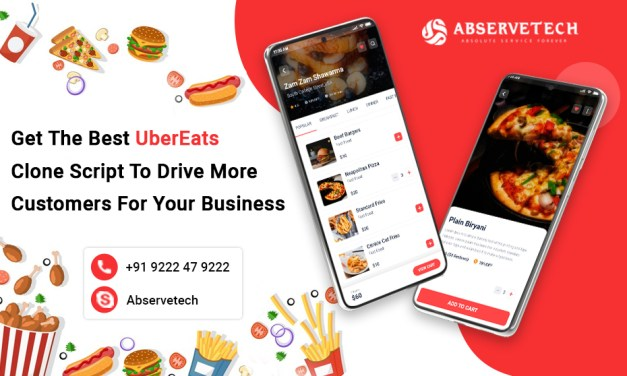 Get The Best UberEats Clone Script To Drive More Customers For Your Business