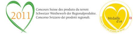 Concours Suisse des produits du terroir 2011 - Médaille d'Or