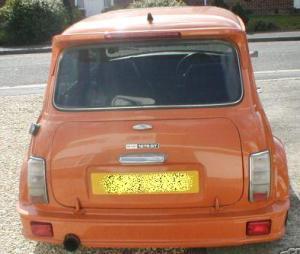 Turbo Kit rear Orange