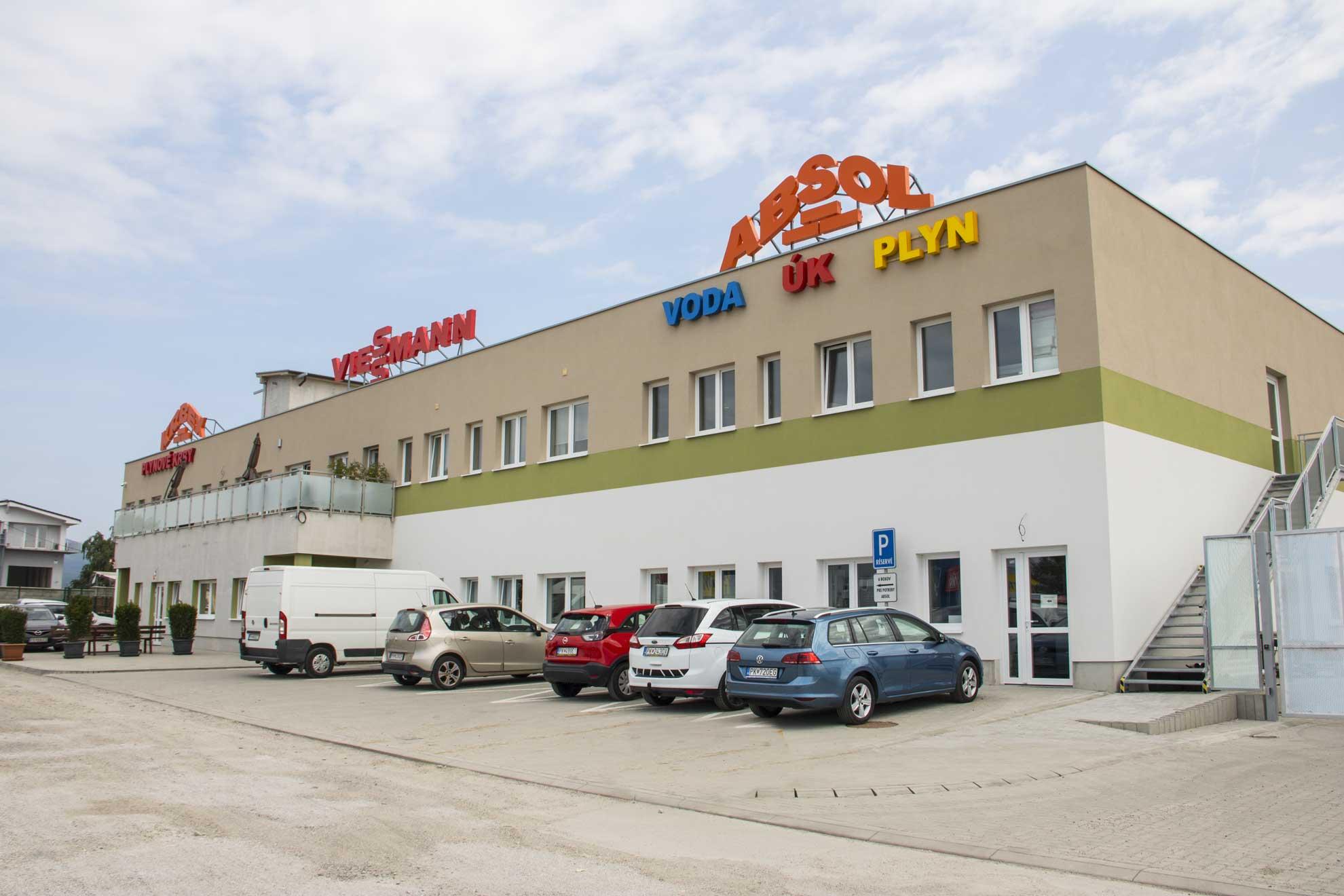 Predajňa Absol Pezinok, voda, plyn, kúrenie, široký sortiment materiálu