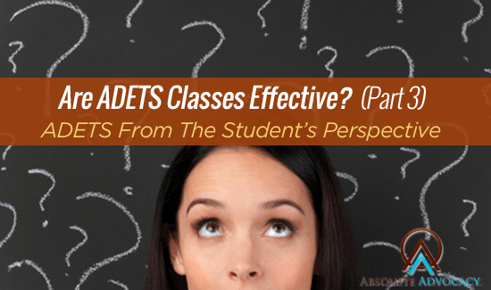 ADETS Classes - NC DWI Class Students
