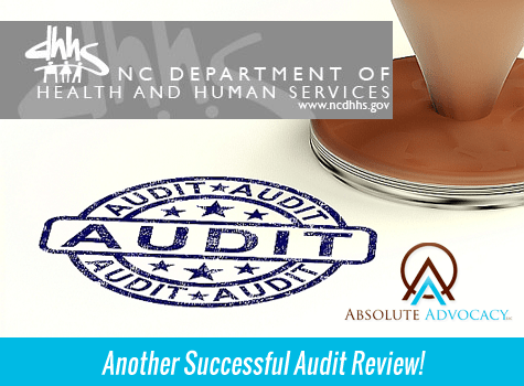 Absolute Advocacy 2013 NC DHHS Audit
