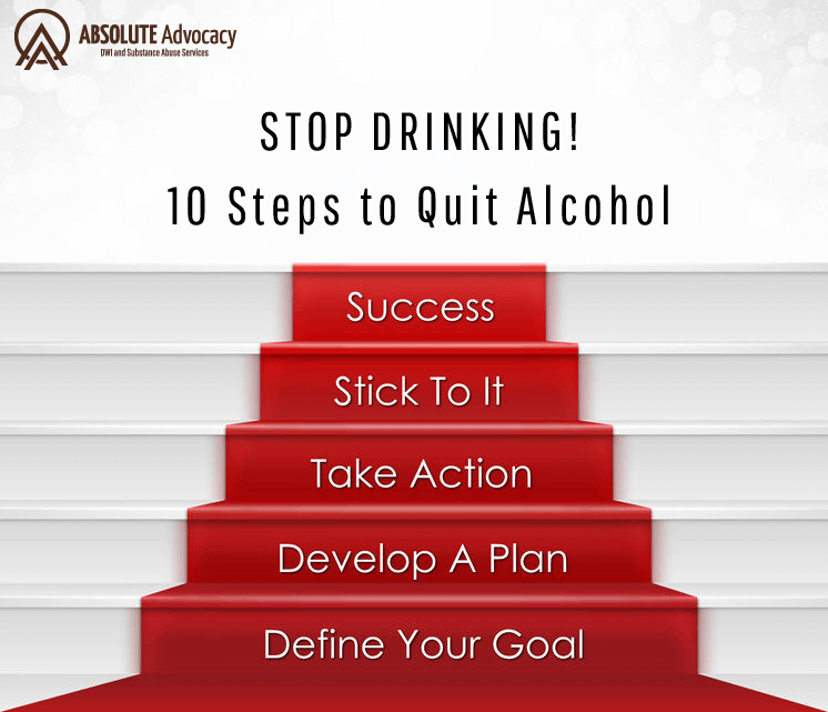 10 Steps to Help You Quit Alcohol | Absolute Advocacy