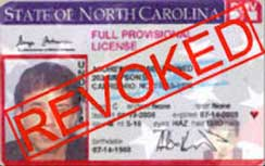 North Carolina DWI Driver License Revoked