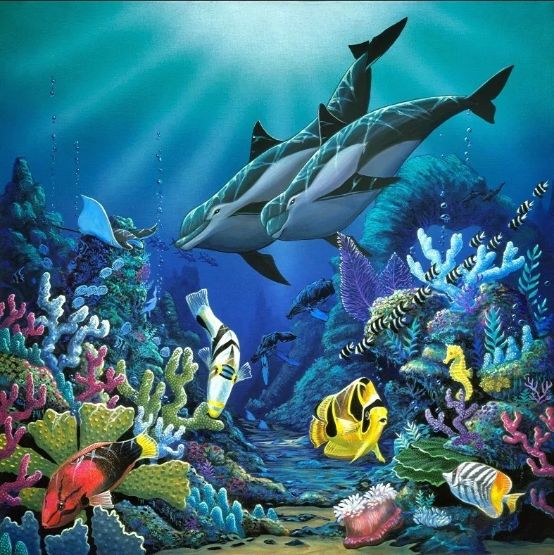 Cute Dolphin Drawing Wallpaper Environmental Artist Apollo Artwork Illumination