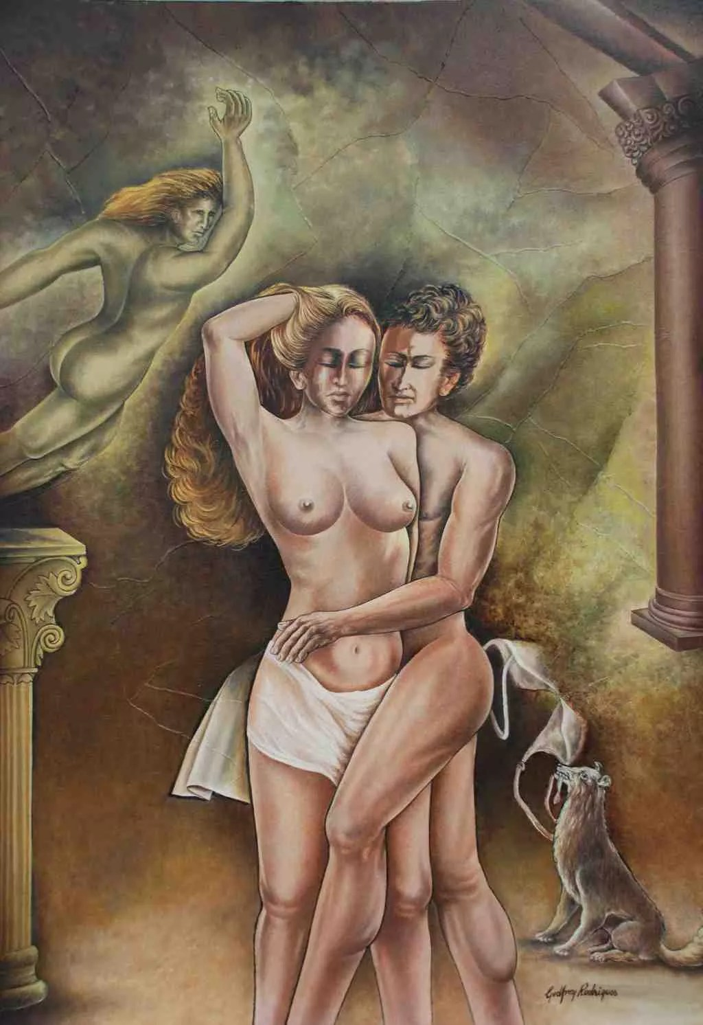 Godfrey Rodrigues Artwork Capitulate  Original Painting