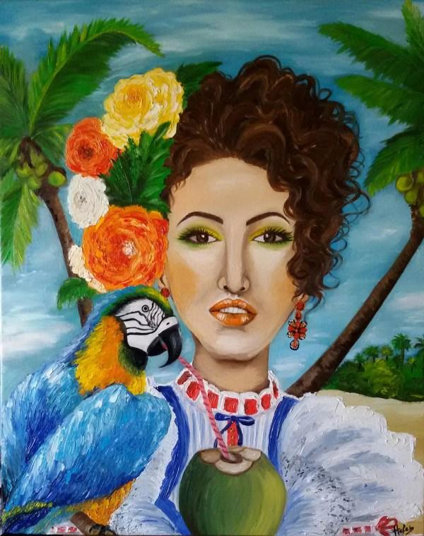 Helen Bellart Artwork Caribbean Woman Original Painting