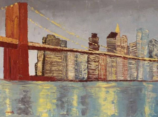 Oil Painting Brooklyn Bridge